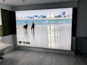 Réalisation d'un cadre rétro éclairée pour Val Promotion par Visuel Original