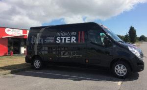 Une réalisation Visuel Original pour le covering de vehicule professionnel d'Intérieurs STER