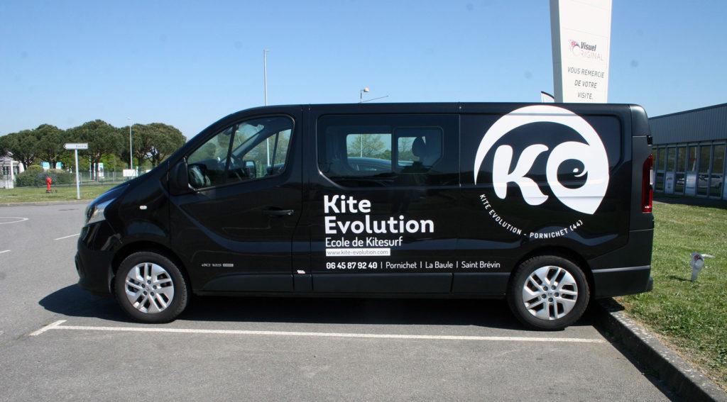 Une réalisation Visuel Original pour le covering de vehicule professionnel de Kite Evolution