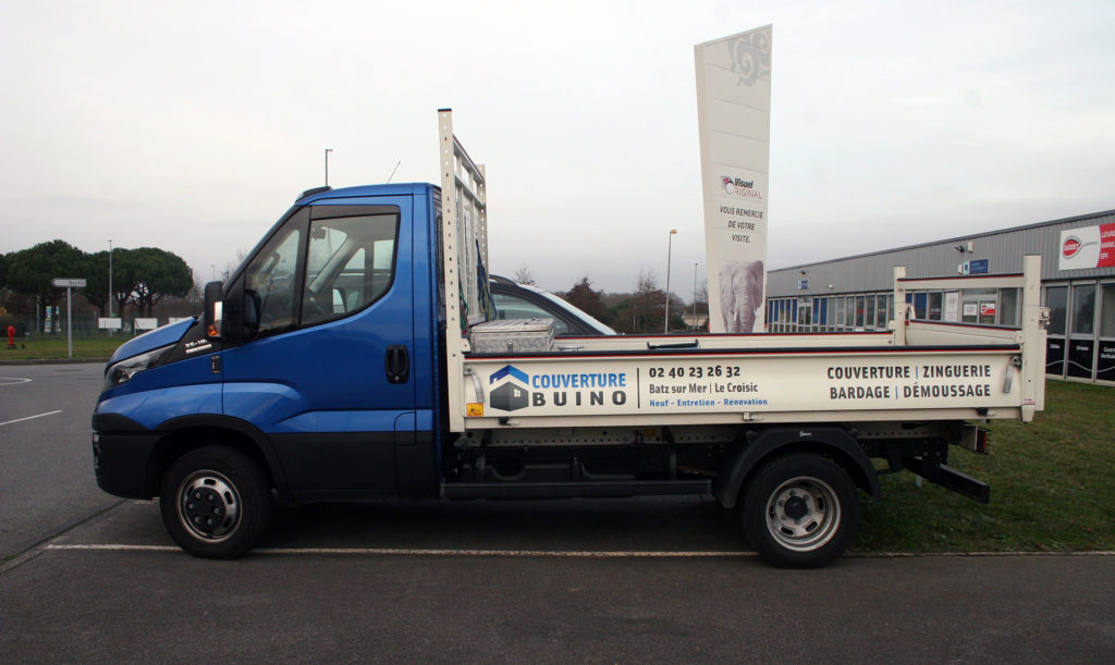 Une réalisation Visuel Original pour le covering de vehicule utilitaire de Couverture Buino