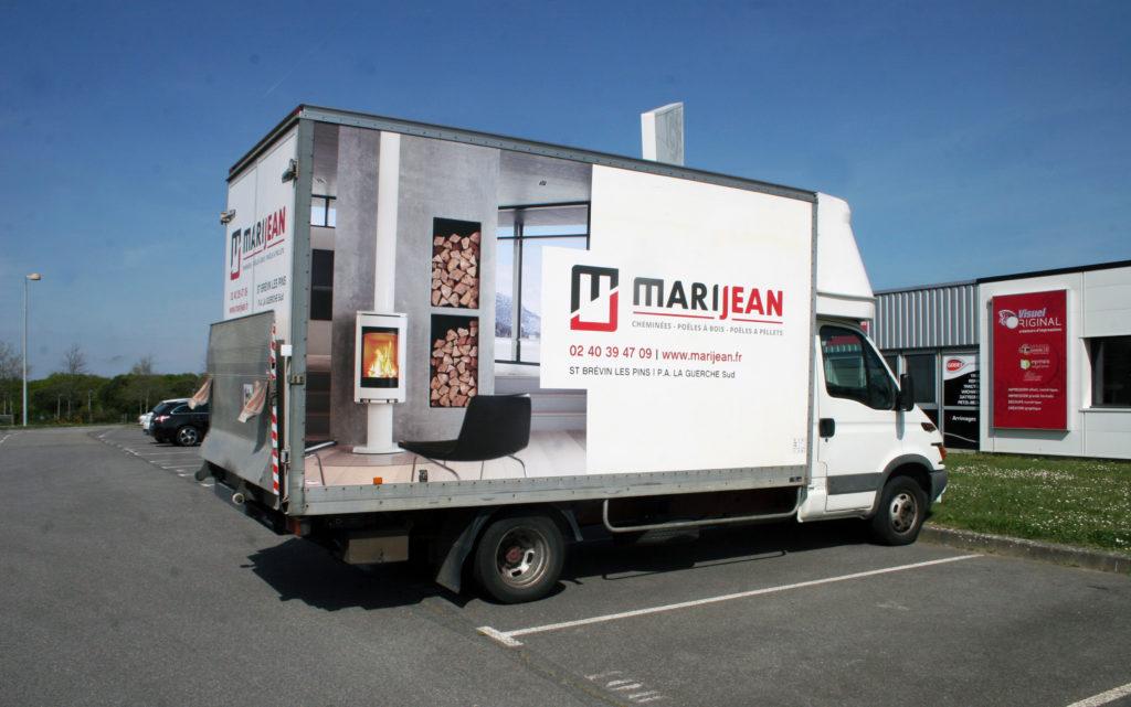 Une réalisation Visuel Original pour le covering de vehicule utilitaire de MariJean