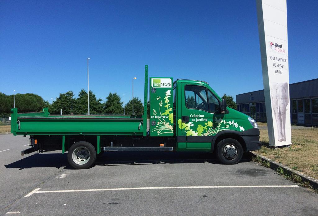 Une réalisation Visuel Original pour le covering de vehicule utilitaire de Tech Natura