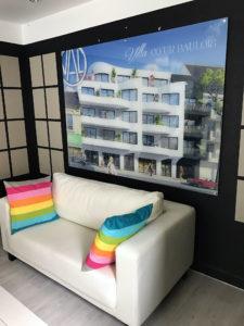 panneau plexi imprimé Val promotion Villa coeur Baulois