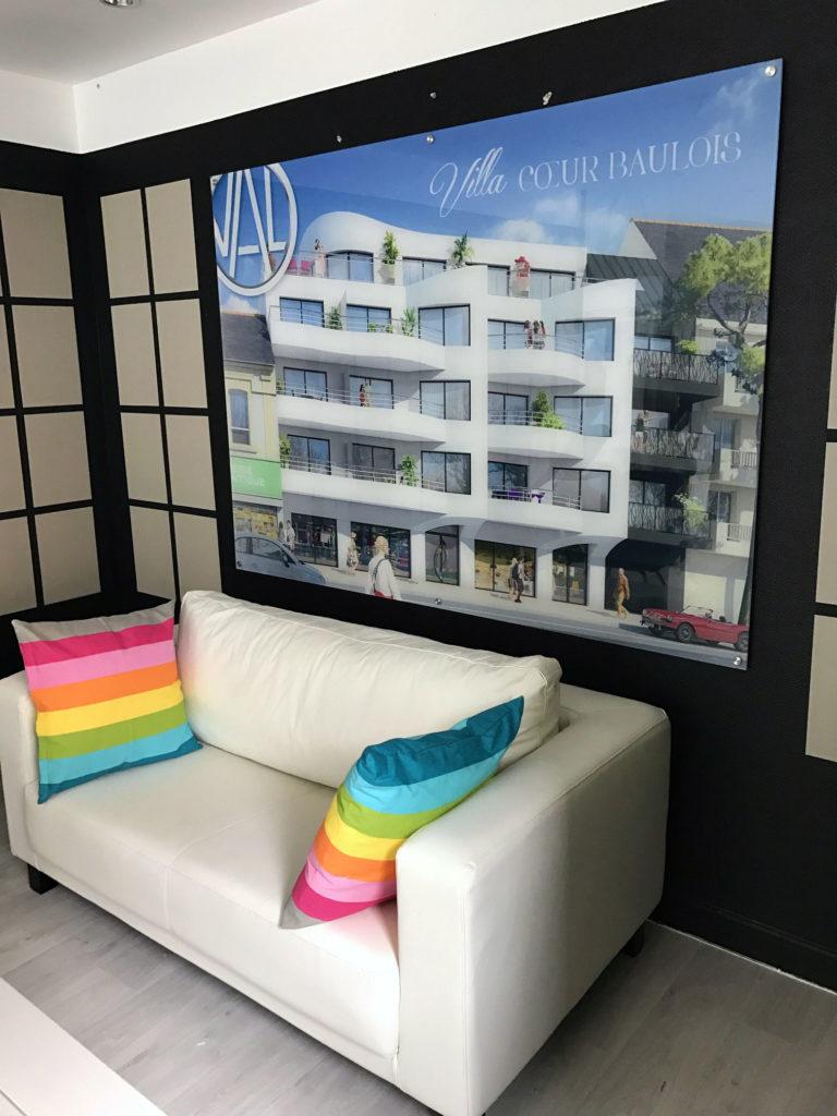 panneau cadre plexi-glace imprimé pour les logements