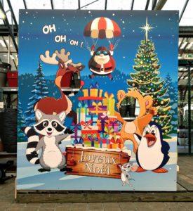 Panneau d'exposition Joyeux Noel Visuel Original