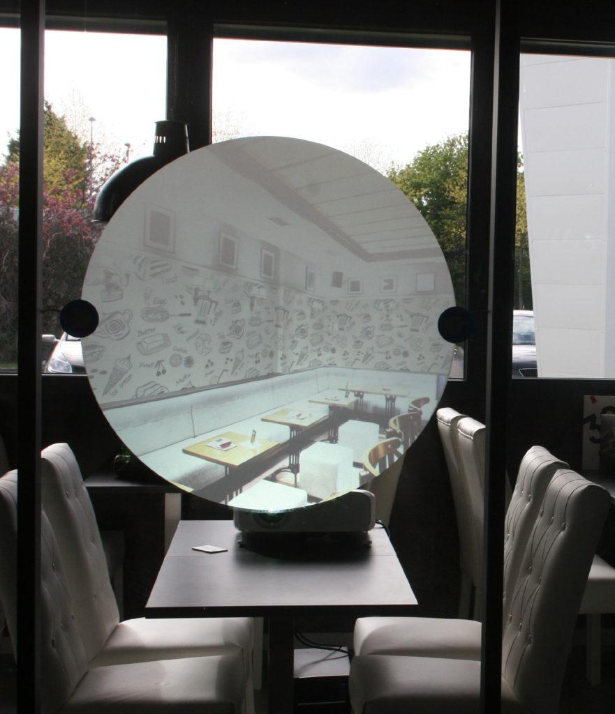 Film de projection restaurant