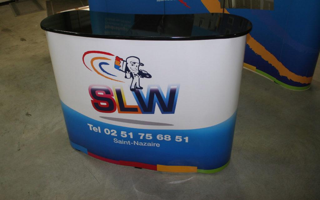 Banque d'accueil comptoir SLW