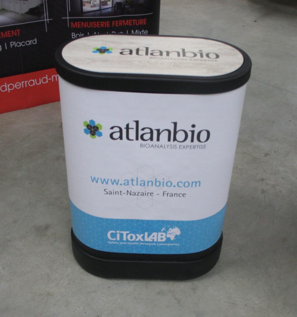 Banque accueil comptoir Atlanbio