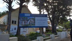 Panneau de chantier de la construction de studio par Bati-Nantes