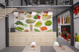 Papier peint personnalisé légumes