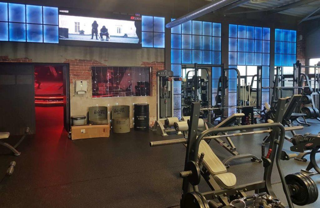Décoration intérieure salle de sport