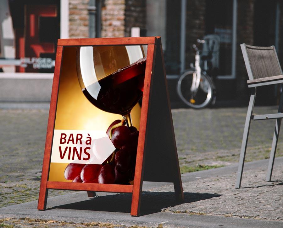 stop trottoir bar à vins