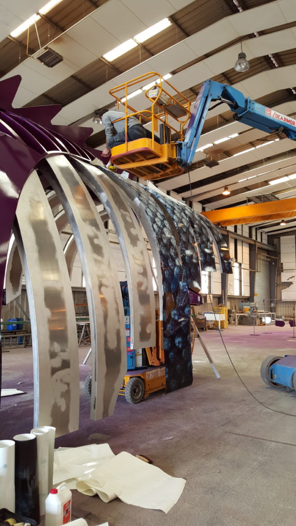 fabrication du poisson des abysses pour le Harmony of the seas