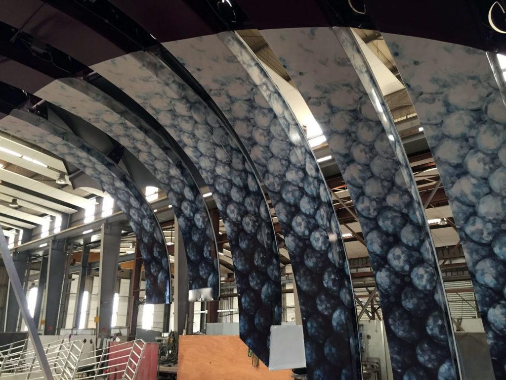 Covering industriel décoratif du toboggan de l'Hrmonie of the seas