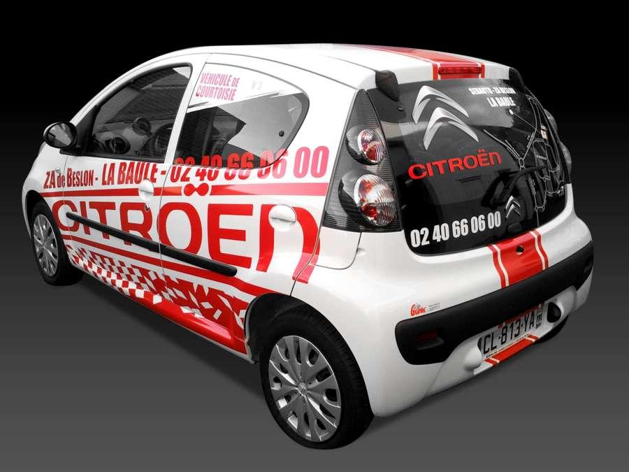 Covering du véhicule de courtoisie Citroën