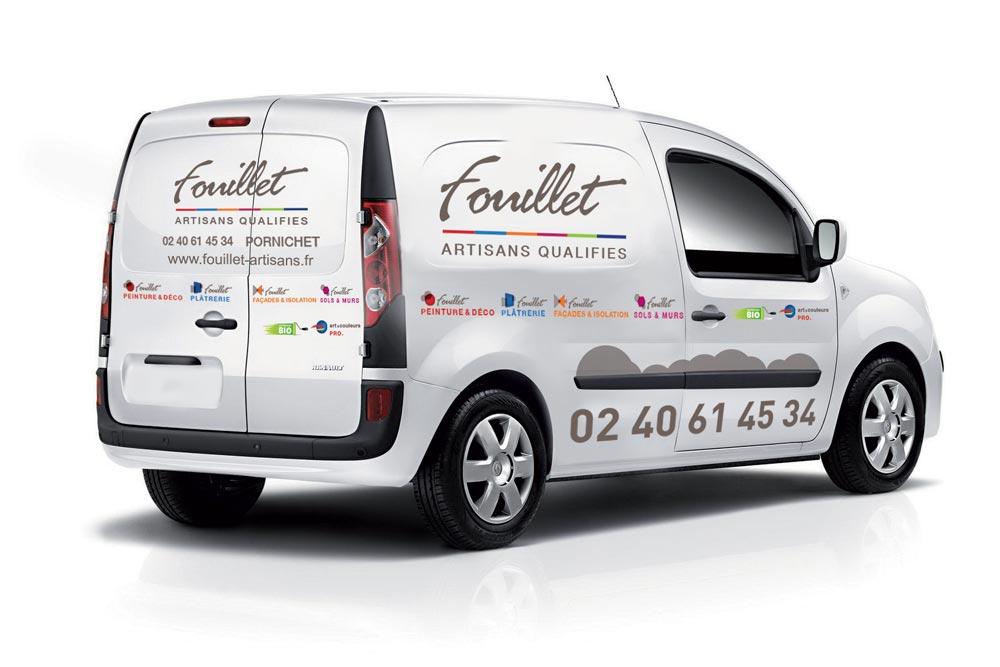 Covering voiture pour l'entreprise Fouillet