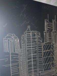 Adhésif mural pour craie avec tableau noir