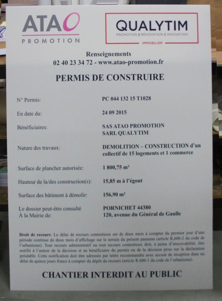 panneau permis de construire