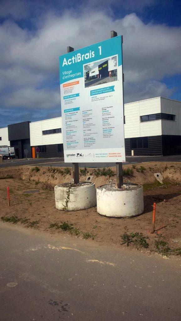 Panneau chantier Actibrais