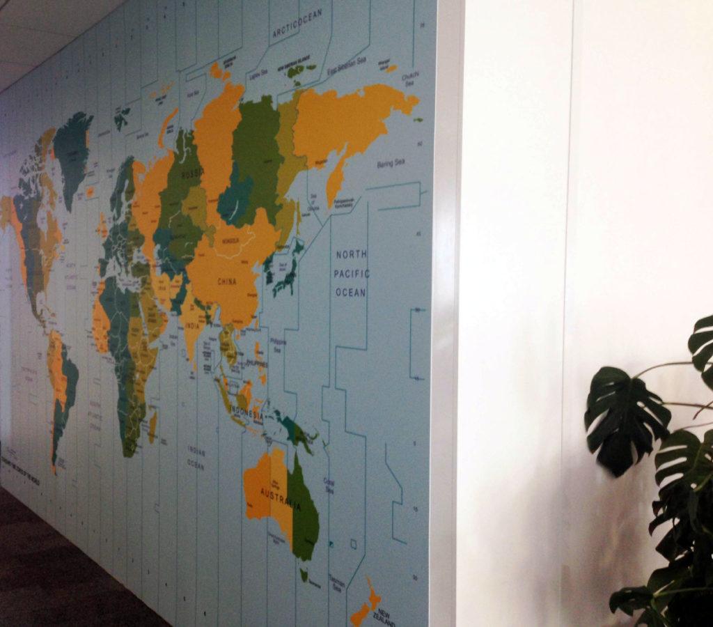 panneau cadre grand format pour couvrir mur complet, réalisation Visuel Original